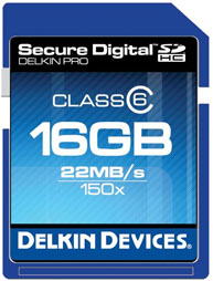 16GB Secure Digital (SDHC) Memory