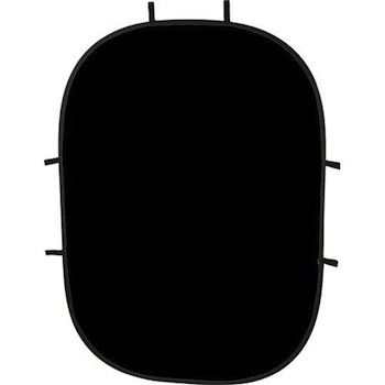 Impact Collapsible Backdrop 5x7 ft Black
