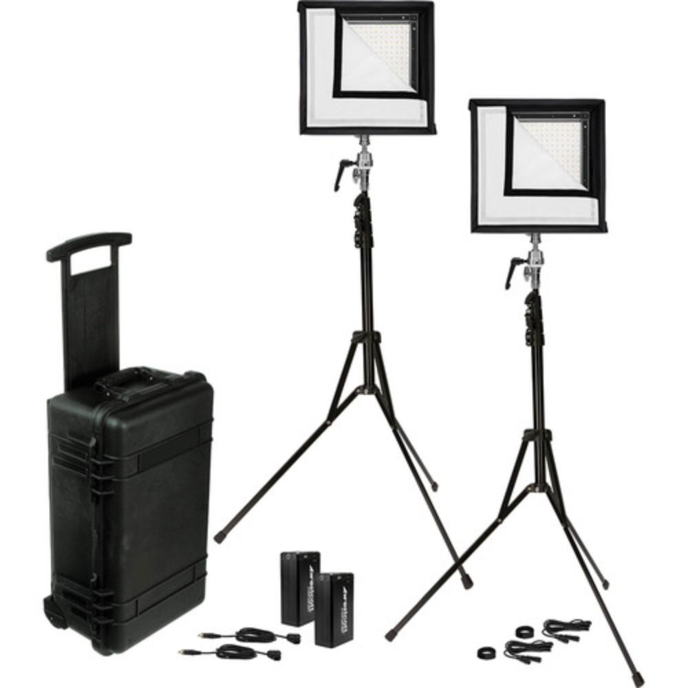 Westcott 1x1 Flex Bi-Color LED Mat 2-Light Cine Travel Kit