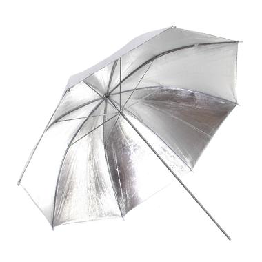 Silver/White 4' Reversible Umbrella