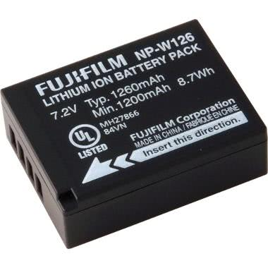 Extra Fuji NP-W126 Battery for X-Pro 1, X-E1 Cameras