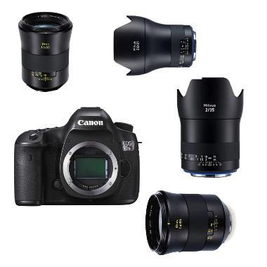 Canon 5Ds R and Zeiss Prime Lens Package