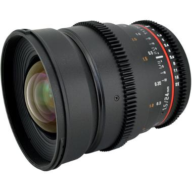 Rokinon 24mm T1.5 Cine Lens for Canon