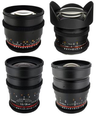 Rokinon Prime Cinema Lens Set (EF Mount)